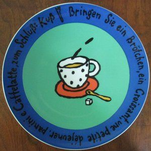 Coffee theme decorative plate from Germany